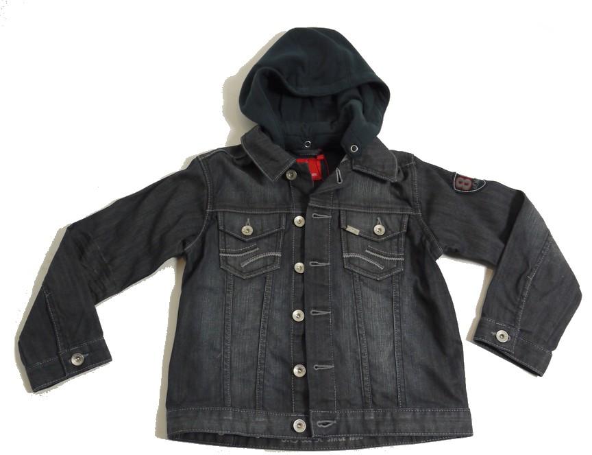 Jeansjacke mit kapuze schwarz